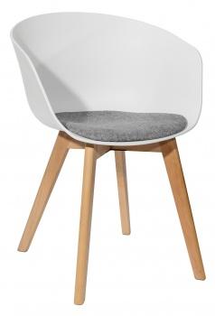 Кресло Libra белое с подушкой купить в Интерио
